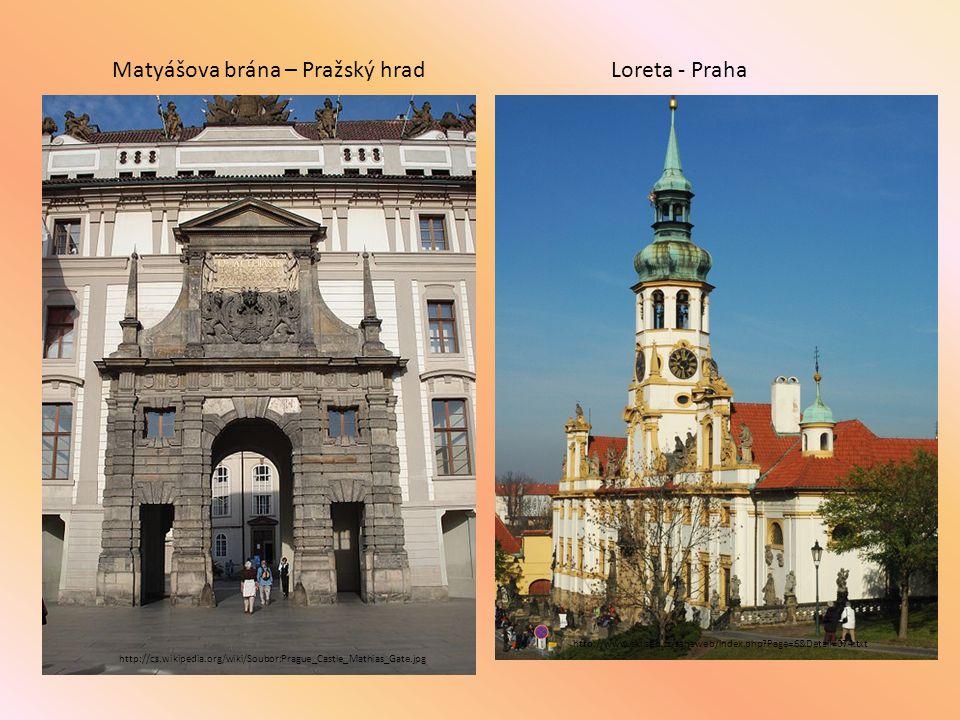 http://cs.wikipedia.org/wiki/Soubor:Prague_Castle_Mathias_Gate.jpg Matyášova brána – Pražský hrad http://www.sklisen.cz/sahaweb/index.php?Page=6&Detai