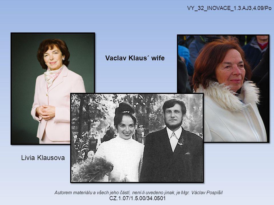 Autorem materiálu a všech jeho částí, není-li uvedeno jinak, je Mgr. Václav Pospíšil CZ.1.07/1.5.00/34.0501 VY_32_INOVACE_1.3.AJ3,4.09/Po Livia Klauso
