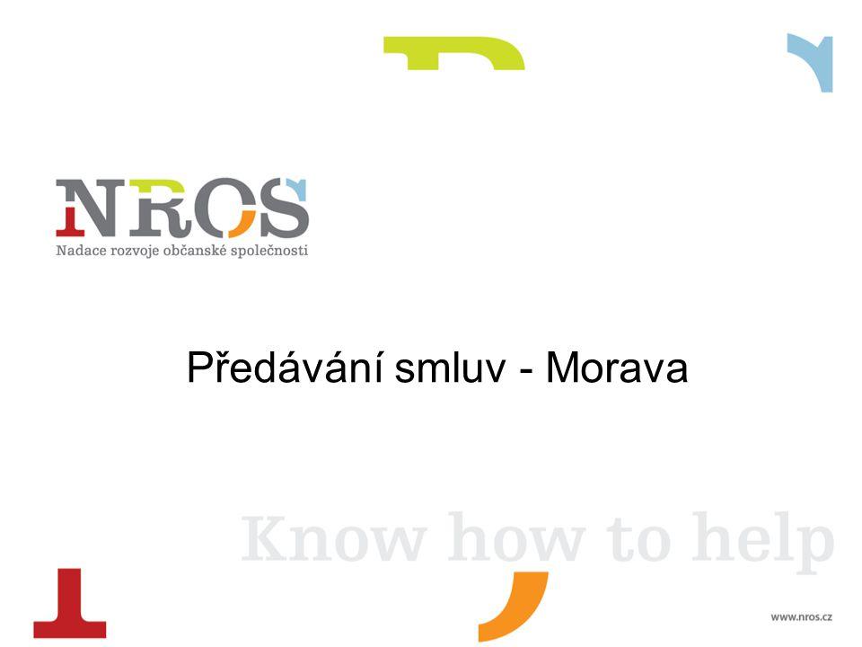 Předávání smluv - Morava