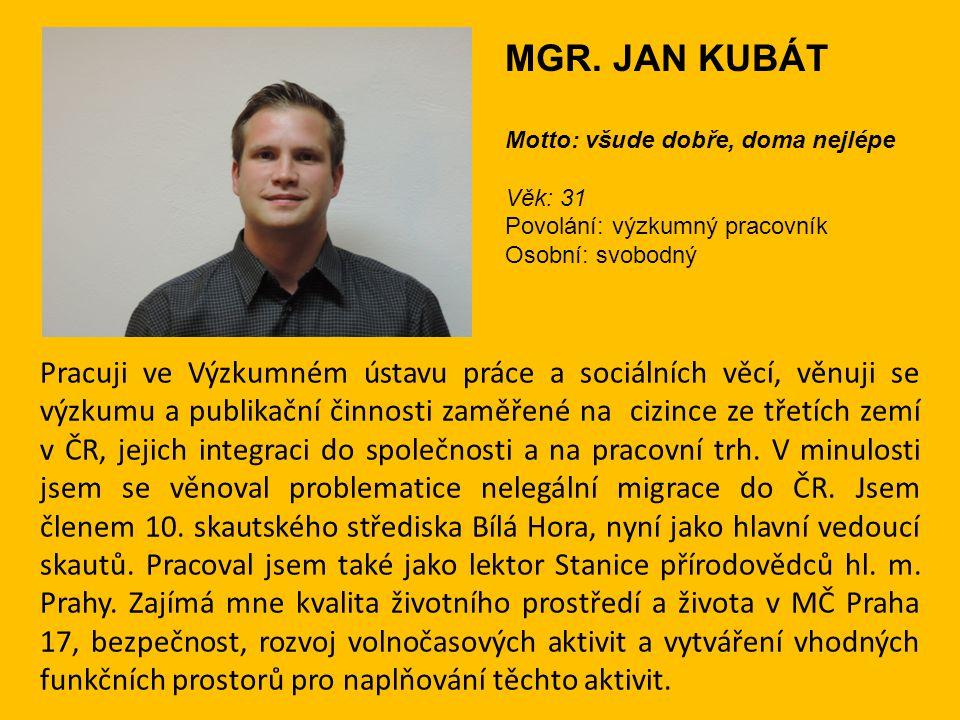 Pracuji ve Výzkumném ústavu práce a sociálních věcí, věnuji se výzkumu a publikační činnosti zaměřené na cizince ze třetích zemí v ČR, jejich integrac