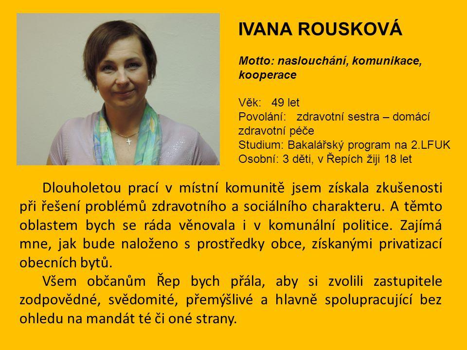 Další naši kandidáti do komunálních voleb 2014 Ing.