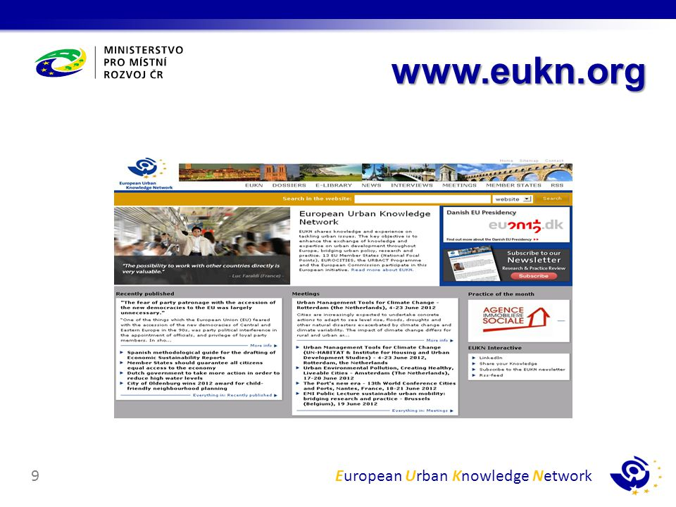 European Urban Knowledge Network9 www.eukn.org