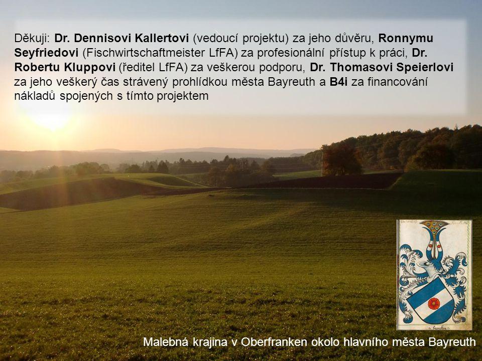 b4ib4i Malebná krajina v Oberfranken okolo hlavního města Bayreuth Děkuji: Dr. Dennisovi Kallertovi (vedoucí projektu) za jeho důvěru, Ronnymu Seyfrie