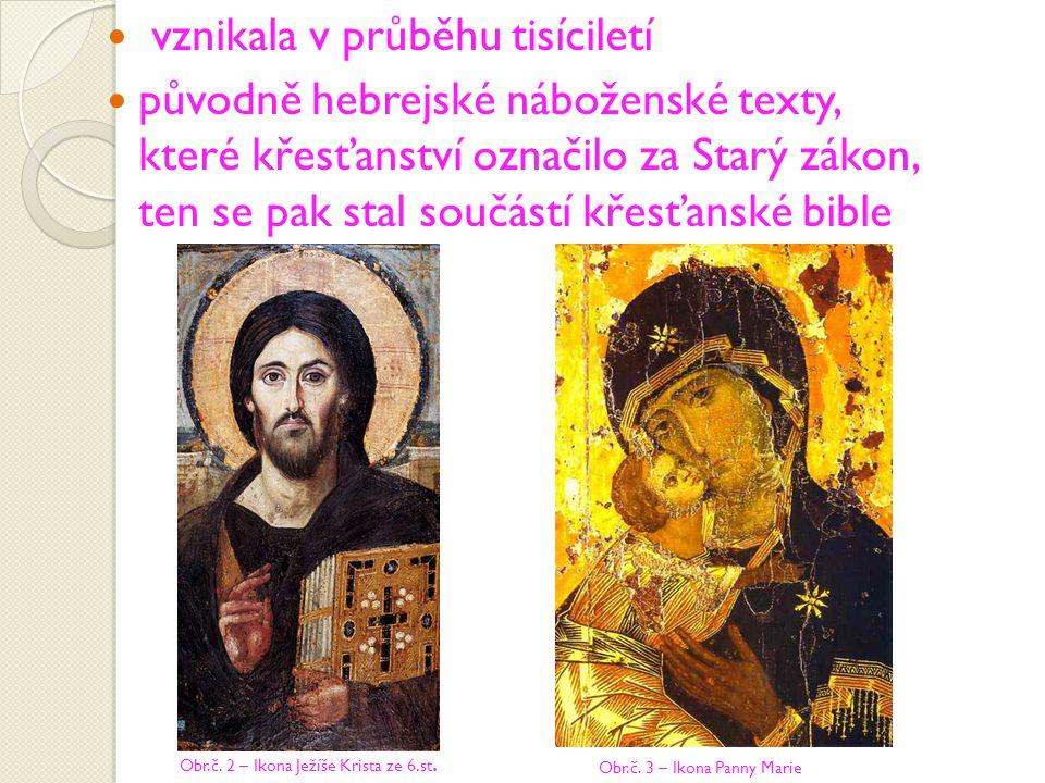 vznikala v průběhu tisíciletí původně hebrejské náboženské texty, které křesťanství označilo za Starý zákon, ten se pak stal součástí křesťanské bible