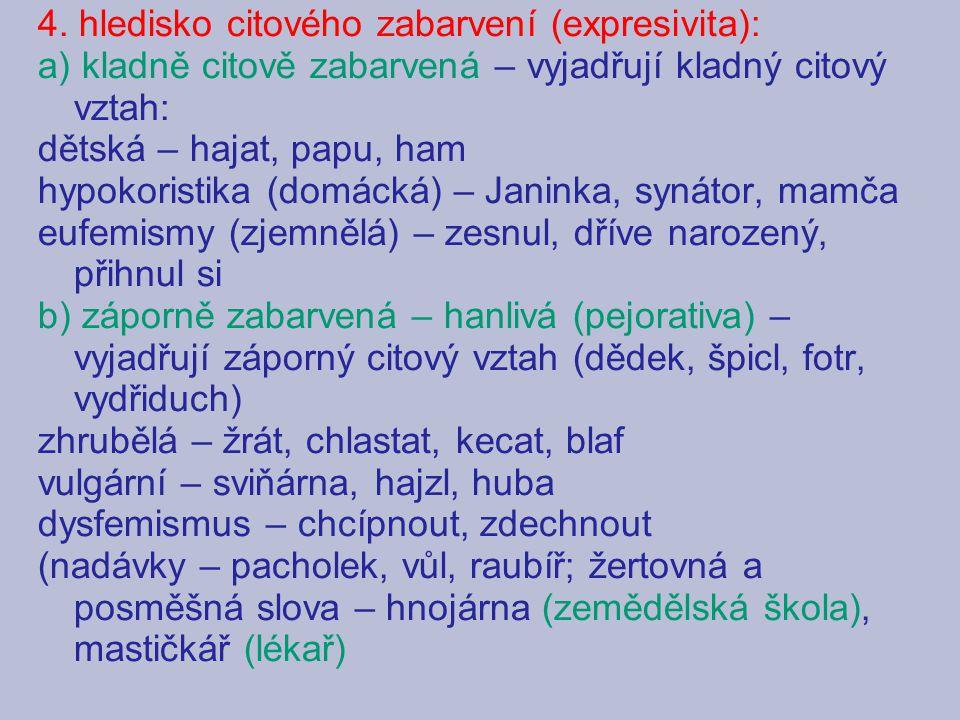 Seznam použitých pramenů: Baláček, Václav: Český jazyk k maturitě.