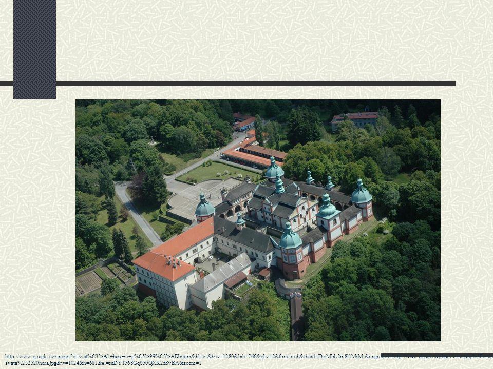 Pražská brána http://www.google.cz/imgres?q=svat%C3%A1+hora+u+p%C5%99%C3%ADbrami&start=81&hl=cs&biw=1280&bih=766&gbv=2&addh=36&tbm=isch&tbnid=RZ2KNC5ehKFkVM:&imgrefurl=http://www.poutnicesta- vianova.cz/historie_jezuite.php&docid=Lg0_5XyL9kSaJM&imgurl=http://www.poutnicesta-vianova.cz/img/Pribram/058.jpg&w=600&h=402&ei=uOLYT_LeKobG0QWFh9CyBA&zoom=1