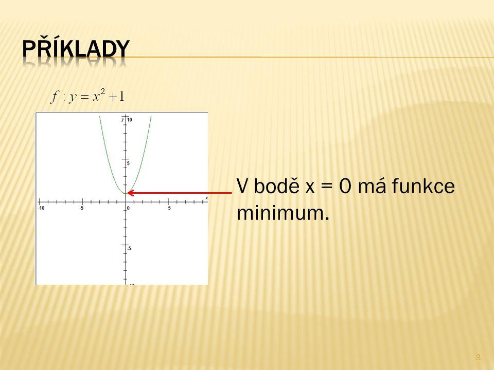 V bodě x = 0 má funkce minimum. 3