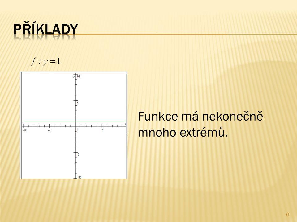 Funkce má nekonečně mnoho extrémů. 6