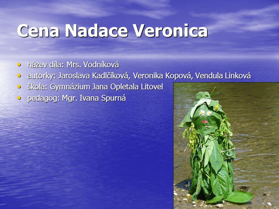 Cena Nadace Veronica název díla: Mrs.Vodníková název díla: Mrs.