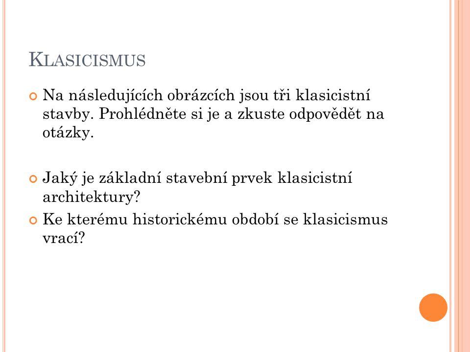 K LASICISMUS Velké divadlo - Varšava