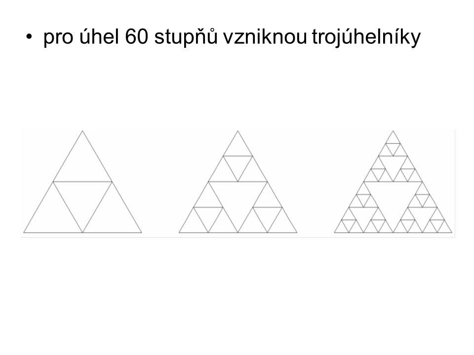 České vysoké učení technické v Praze Fakulta dopravní pro úhel 60 stupňů vzniknou trojúhelníky