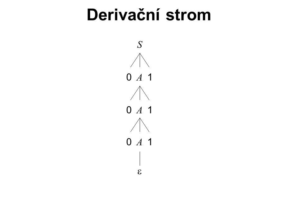 České vysoké učení technické v Praze Fakulta dopravní Derivační strom S A  01 A 01 A 01