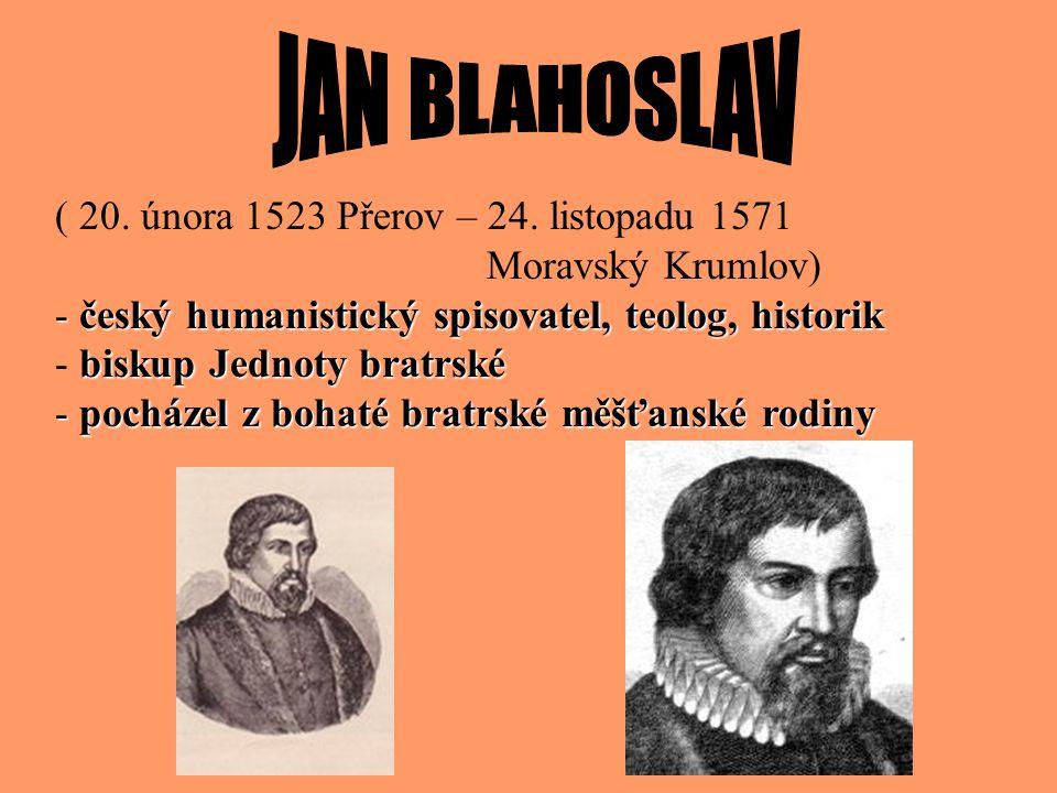 - vrcholem literární činnosti Jednoty bratrské - jedná se o šestidílný překlad Bible do češtiny - čeština byla v této době vzorem ušlechtilého, čistéh