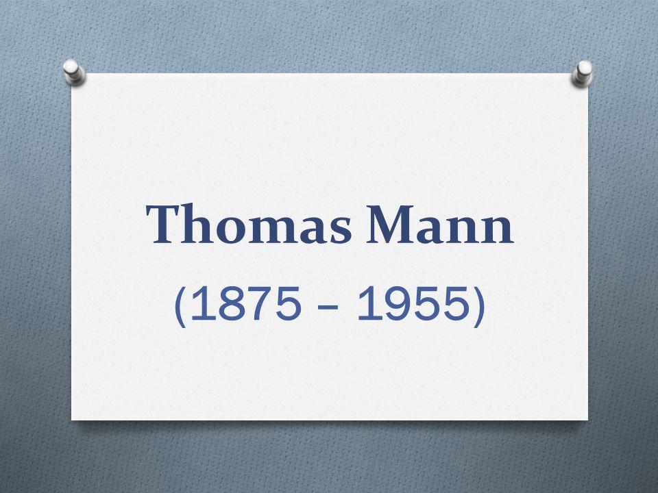Thomas Mann O německý prozaik a esejista O nositel Nobelovy ceny za literaturu z roku 1929 O mladší bratr spisovatele Heinricha Manna O otevřeně vystupoval proti nacismu (řeč Apel na rozum, 1930) O emigroval do Švýcarska, ČSR a poté USA http://commons.wikimed ia.org/wiki/File:Thomas_ Mann_1929.jpg