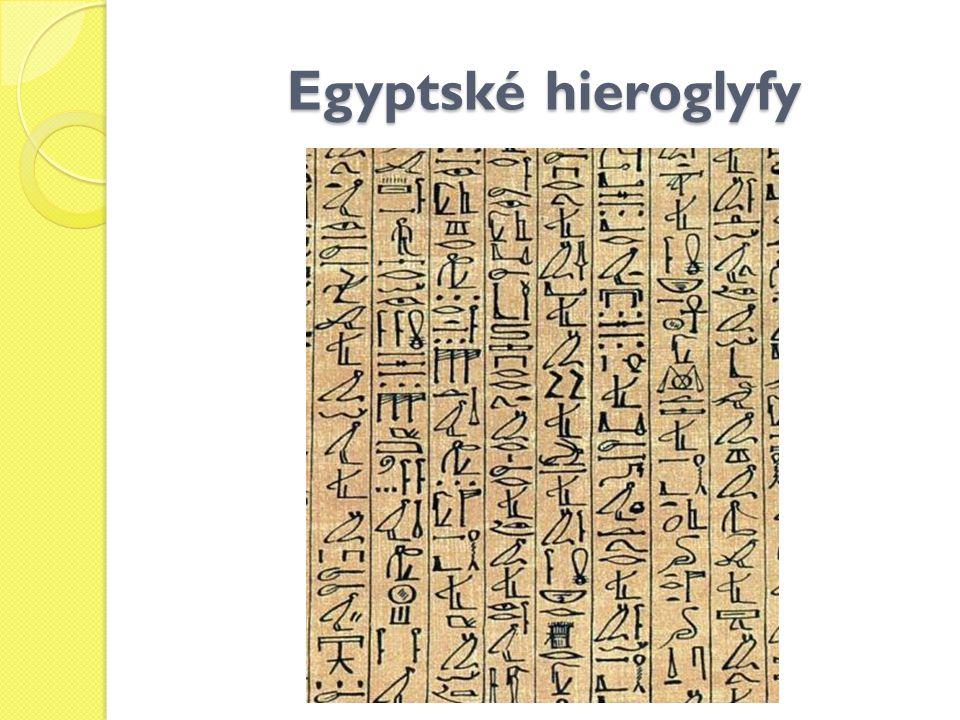 Egyptské hieroglyfy