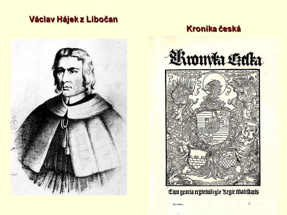 Václav Hájek z Libočan Kronika česká