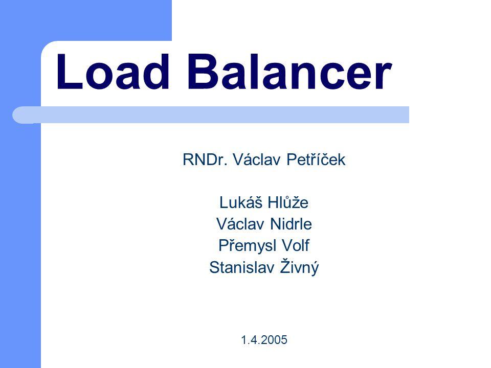 Load Balancer RNDr. Václav Petříček Lukáš Hlůže Václav Nidrle Přemysl Volf Stanislav Živný 1.4.2005