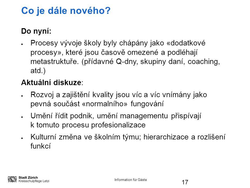Information für Gäste 17 Co je dále nového.