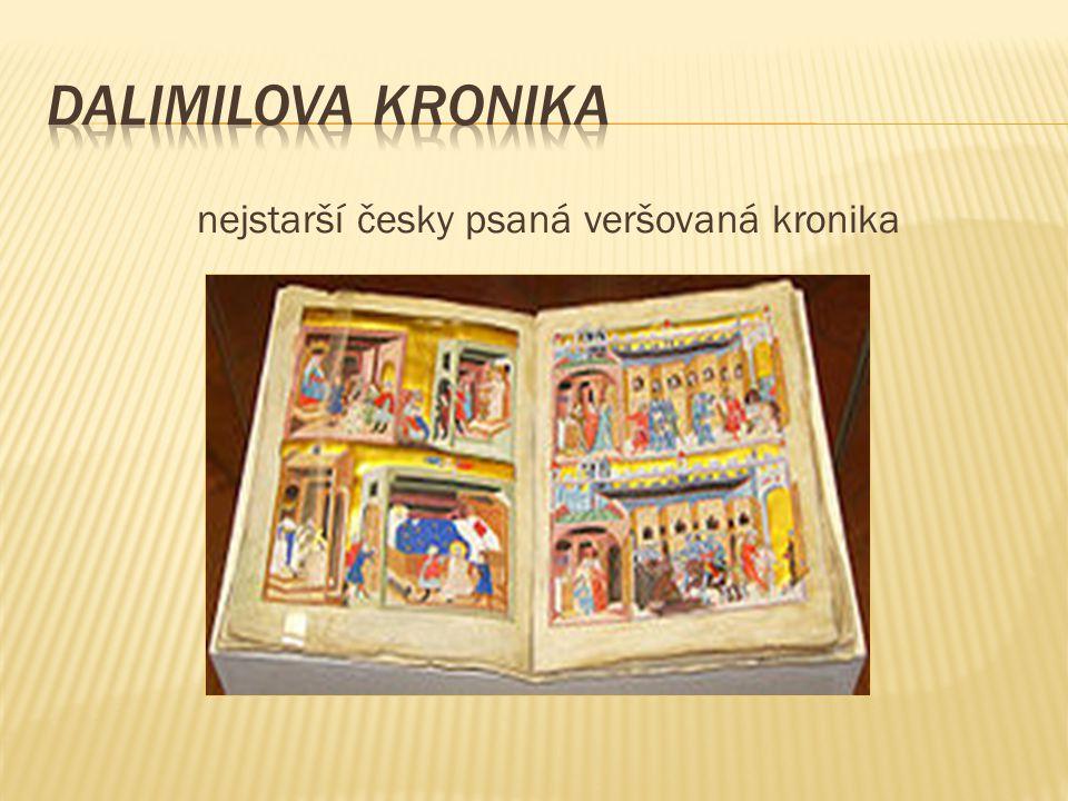 nejstarší česky psaná veršovaná kronika