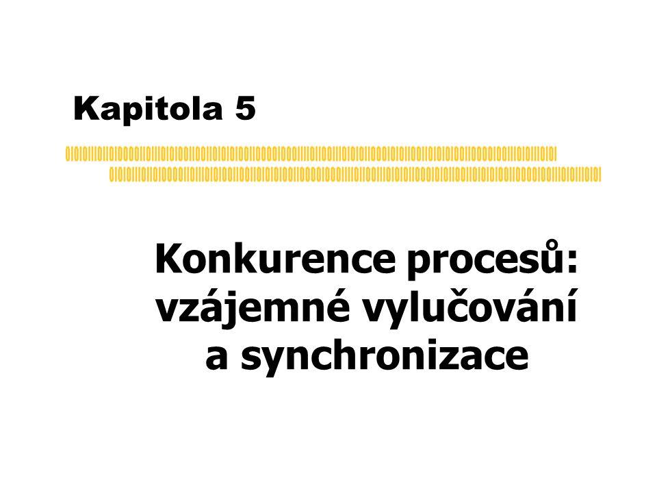 Semafory: pozorování  kritické sekce definované ve wait(S) a signal(S) jsou velmi krátké  typicky 10 instrukcí  řešení:  jednoprocesorové: zákaz přerušení po dobu provádění operace  je to velmi krátká doba  nelze použít u víceprocesorového systému  víceprocesorové: použít některé z popsaných SW nebo HW řešení  rozsah aktivního čekání nsmí být velký