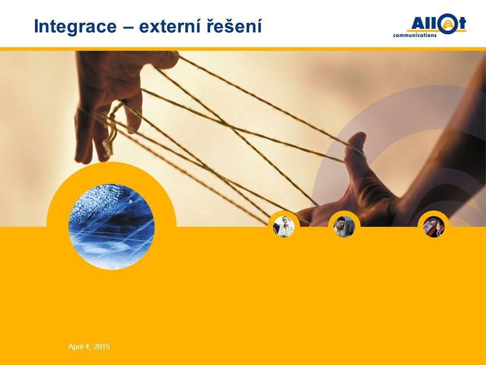 April 4, 2015 Integrace – externí řešení