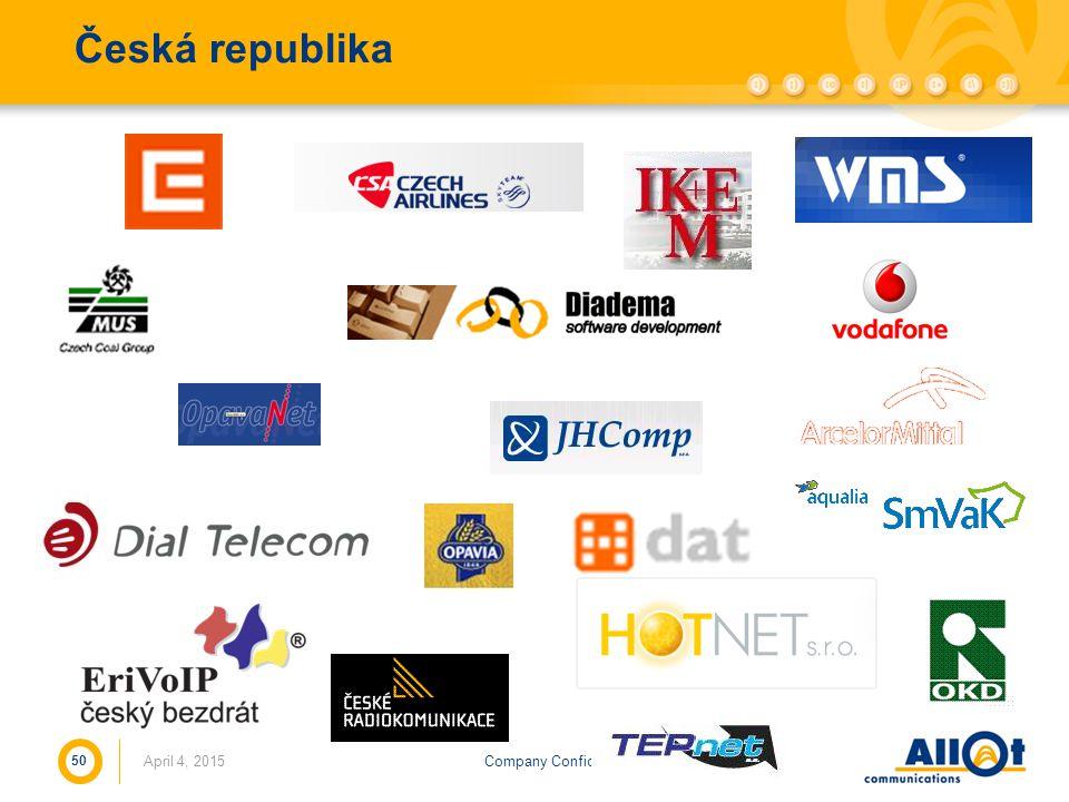 Company ConfidentialApril 4, 2015 50 Česká republika
