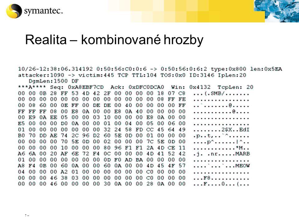 38 – Technologie antispamových signatur První generace technologie signatur MD5 hash na těle zprávy Zachycuje všechny identické zprávy, mající shodný MD5 hash Hash na zprávě Patentované signatury pro zachycení nejasných shodností s tělem zprávy Identifikují mutace a náhodná generování používaná spammery k obejití filtrů Zachycují specifické útoky (a jejich variace) přímo ve fázi jejich rozvoje BrightSig2 Třetí generace technologie signatur Extrahuje přesné signatury MIME obsahu (např.