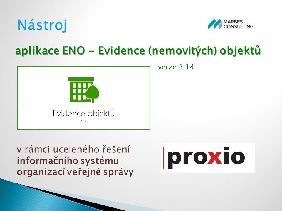 verze 3.14 aplikace ENO - Evidence (nemovitých) objektů v rámci uceleného řešení informačního systému organizací veřejné správy