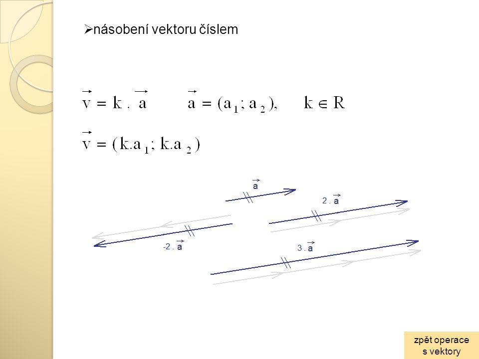  lineární závislost vektorů dva vektory jsou lineárně závislé, pokud existuje reálné číslo k, pro které platí: tzn.: jsou lineárně závislé, pokud jsou rovnoběžné tři vektory jsou lineárně závislé, pokud existují reálná čísla k, l pro která platí: tzn.: jsou lineárně závislé, pokud leží v jedné rovině zpět operace s vektory
