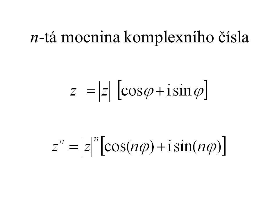 n-tá mocnina komplexního čísla