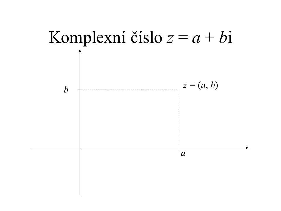 Komplexní číslo z = a + bi a b z = (a, b)
