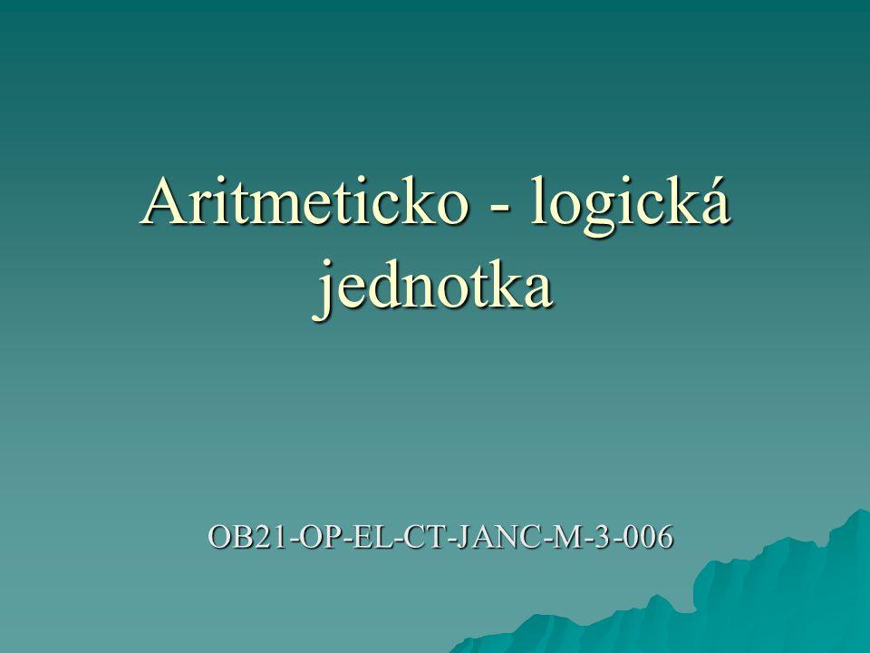 Aritmeticko - logická jednotka OB21-OP-EL-CT-JANC-M-3-006