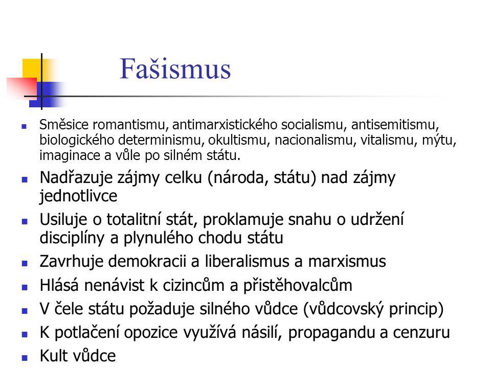 Směsice romantismu, antimarxistického socialismu, antisemitismu, biologického determinismu, okultismu, nacionalismu, vitalismu, mýtu, imaginace a vůle