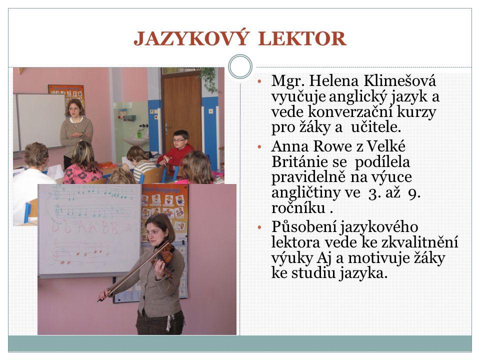 JAZYKOVÝ LEKTOR Mgr.