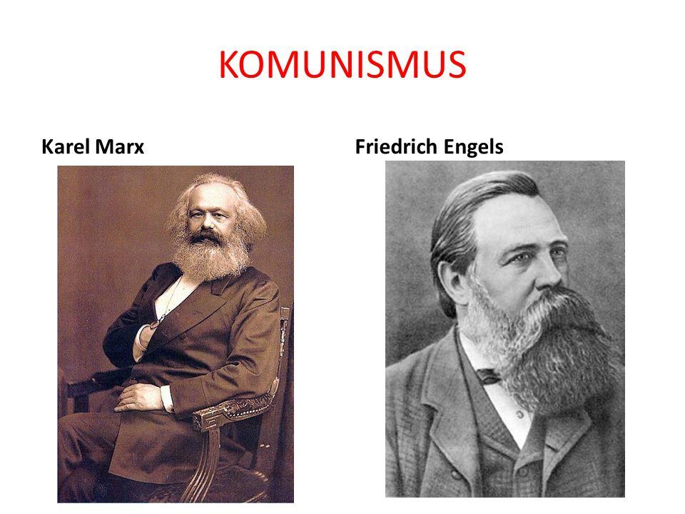 KOMUNISMUS Karel MarxFriedrich Engels