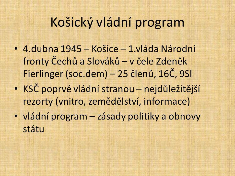 Košický vládní program