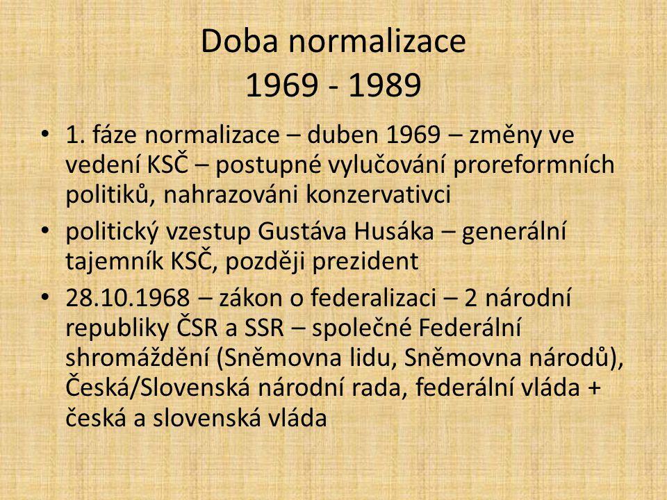 Doba normalizace 1969 - 1989 1.