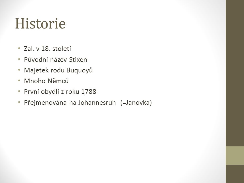 Historie Zal. v 18.