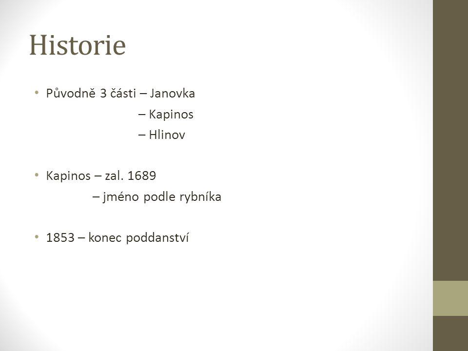 Historie Původně 3 části – Janovka – Kapinos – Hlinov Kapinos – zal.