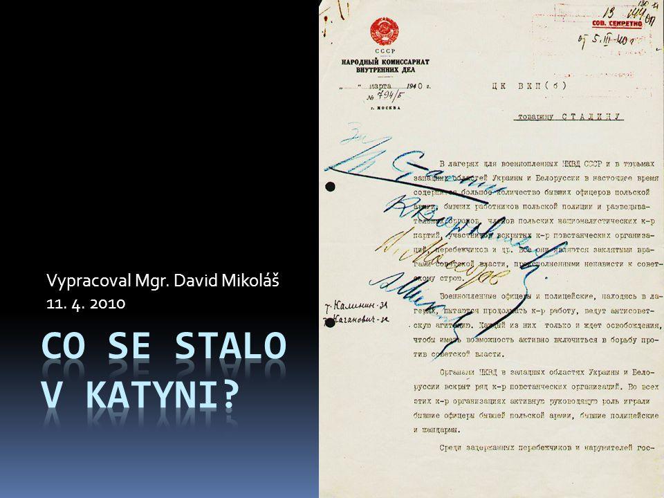Vypracoval Mgr. David Mikoláš 11. 4. 2010