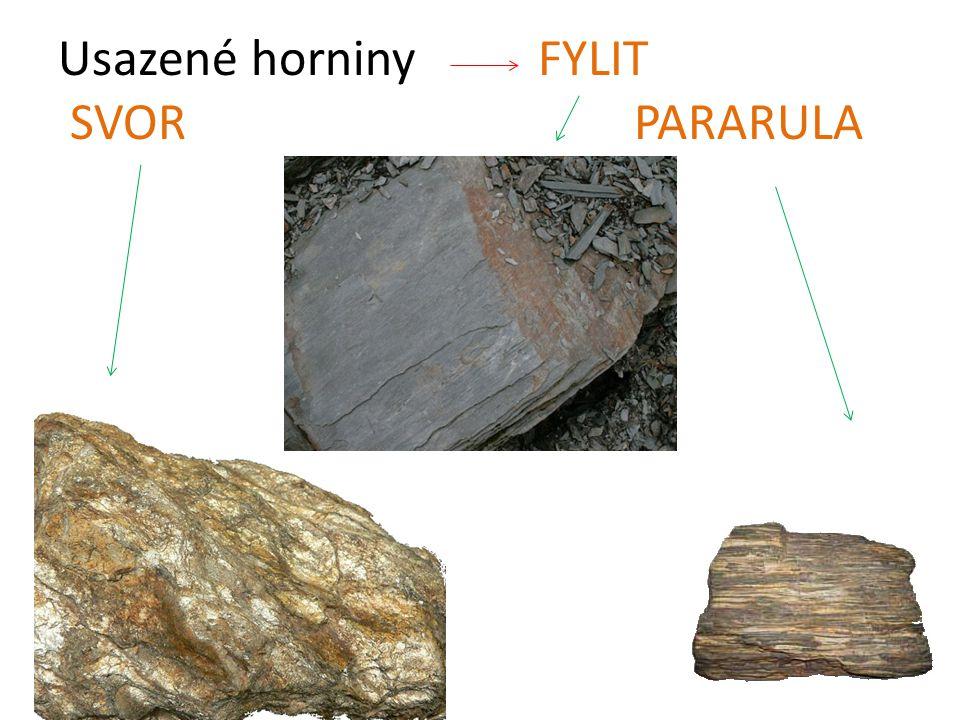 Usazené horniny FYLIT SVORPARARULA