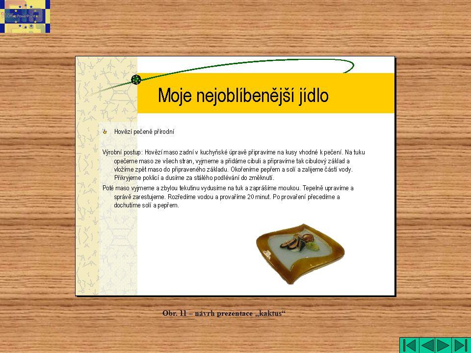 """Obr. 11 – návrh prezentace """"kaktus"""""""