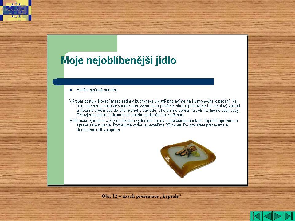 """Obr. 12 – návrh prezentace """"kapsule"""""""