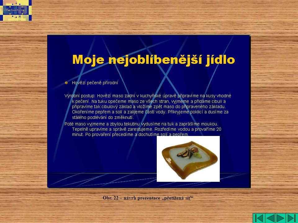 """Obr. 22 – návrh prezentace """"přetížená síť"""""""