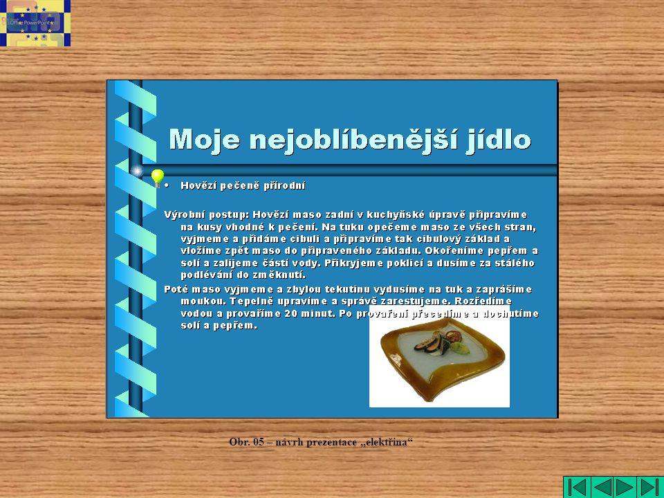 """Obr. 05 – návrh prezentace """"elektřina"""""""