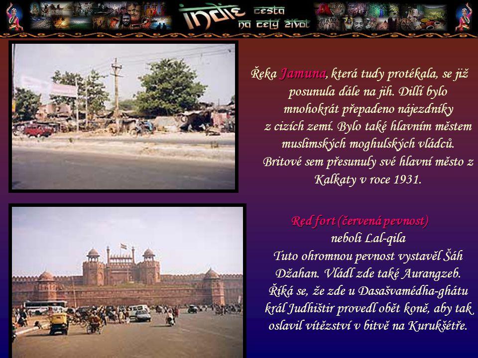 """Purána-qila neboli """"Stará pevnost je jedním z nejstarších památníků v Dillí."""
