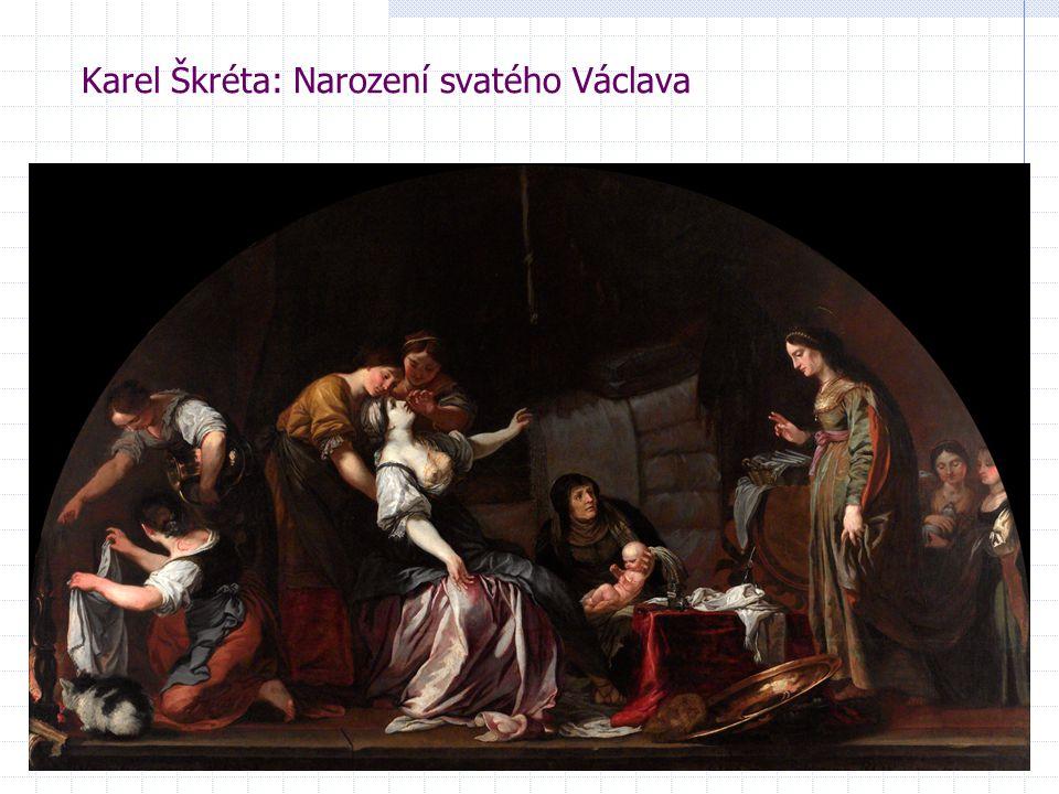 Karel Škréta: Narození svatého Václava