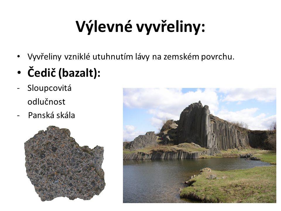 Usazené (sedimentární) horniny: Vznikají zvětráváním hornin na zemském povrchu – vnější geologické děje.