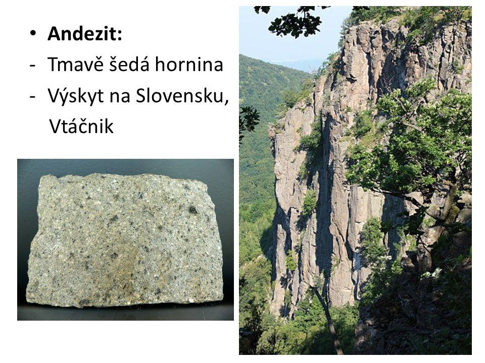 Horniny přeměněné (metamorfované) Vznikají za vysokých tlaků a teplot Mění se stavba původní horniny (nahrazení nových minerálů) Typická je břidličnatost