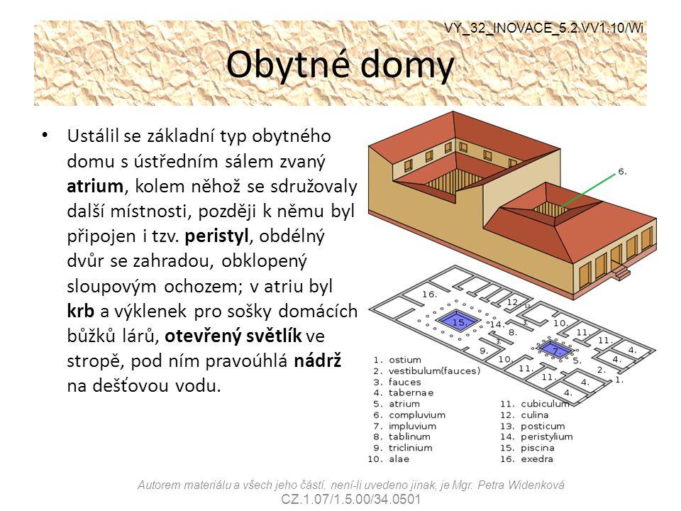 Obytné domy VY_32_INOVACE_5.2.VV1.10/Wi Autorem materiálu a všech jeho částí, není-li uvedeno jinak, je Mgr. Petra Widenková CZ.1.07/1.5.00/34.0501 Us